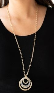 Jewelry - Gold tone multi hoop necklace/earrings set